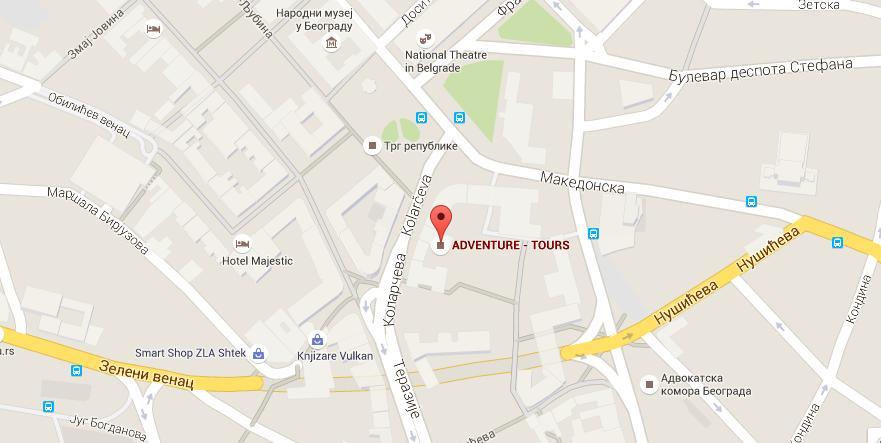 čumićevo sokače beograd mapa Turisticka agencija Adventure tours, Beograd, Cumicevo sokace čumićevo sokače beograd mapa